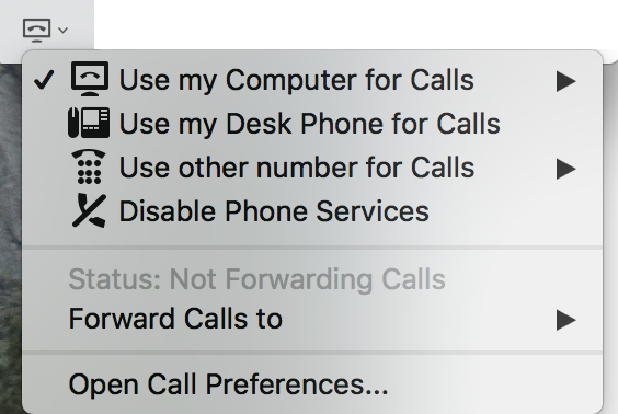 Jabber - ability to change between softphone and deskphone modes